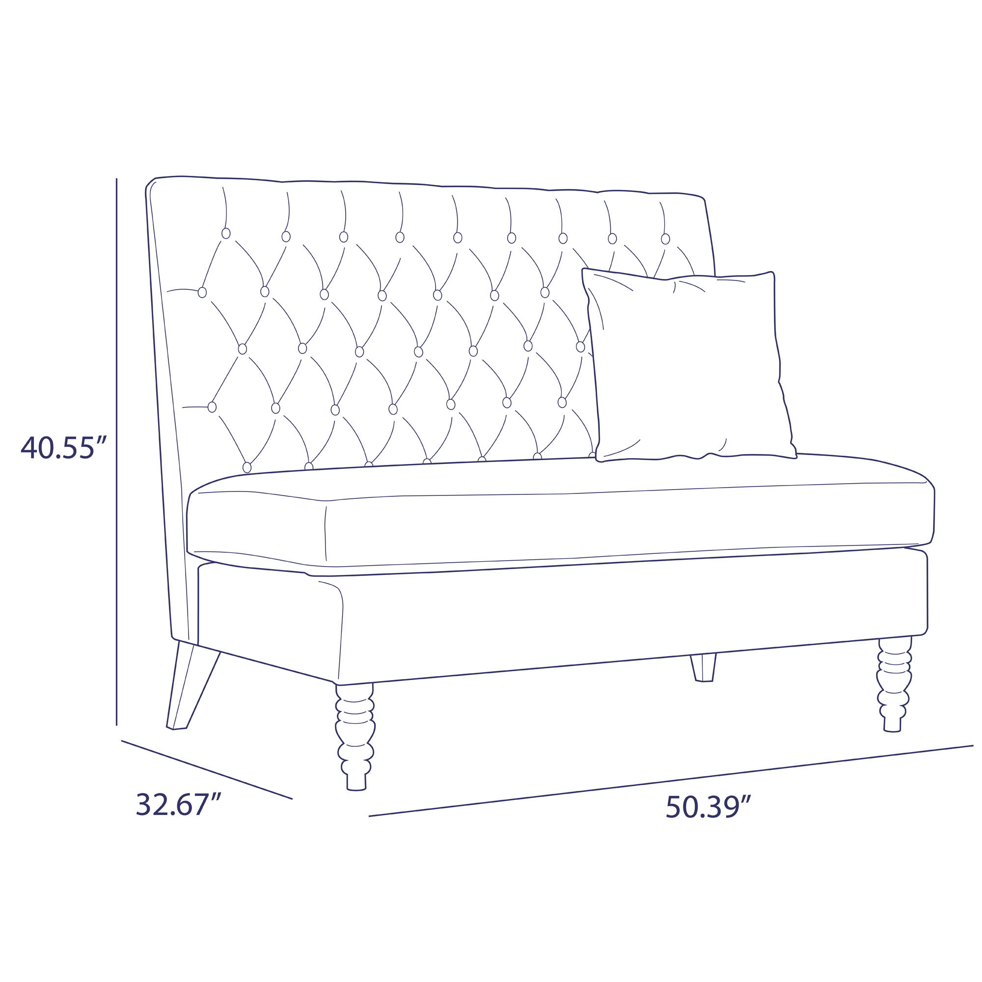 Picture of: Upholstered Bench Sofa Settee Tufted Lounge Chaise Couch Furniture Loveseat Gray 696453512568 Ebay