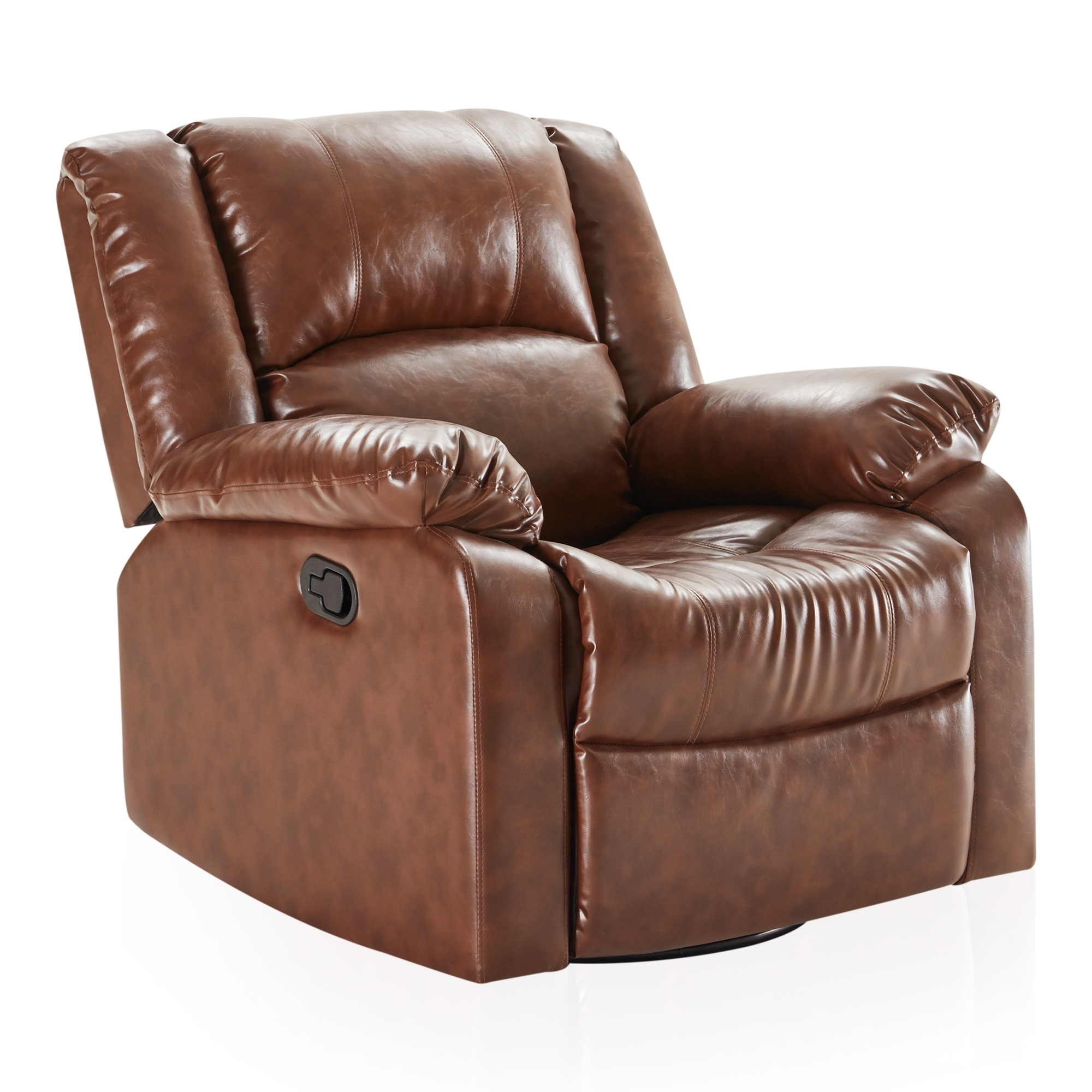 faux leather rocker and swivel glider recliner living room