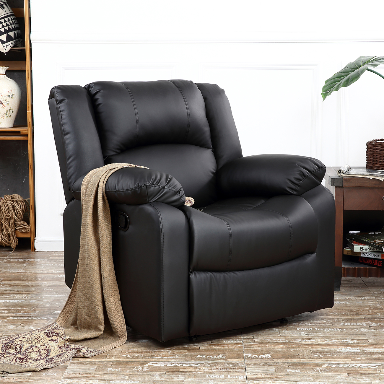 New reclining chair furniture recliner living room faux