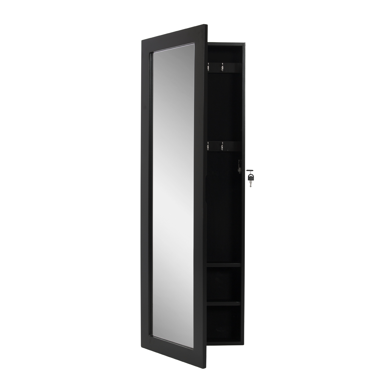 Mirrored Jewelry Cabinet Armoire Wall Mount Organizer ...