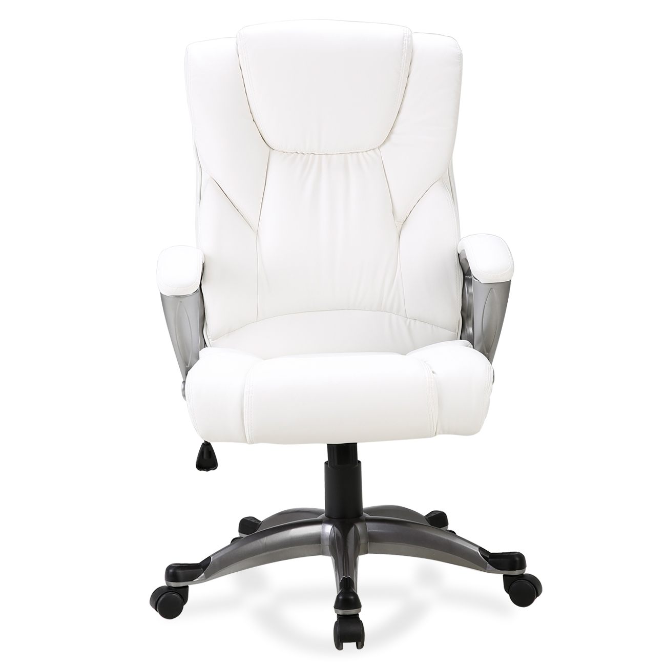 Details About Ergonomic Office Chair Pu Leather High Back Executive Computer Desk Task White