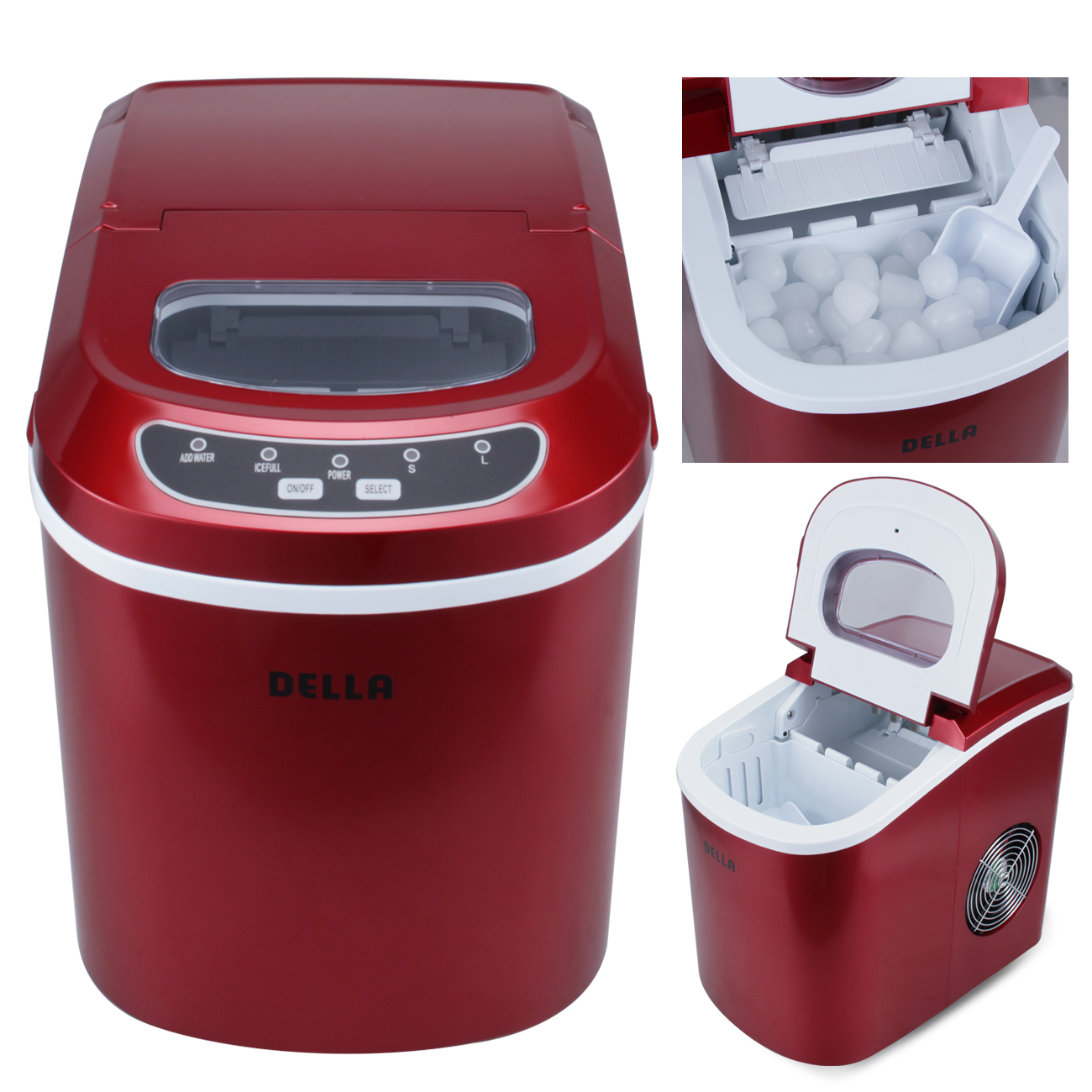 Portable Electric Ice Maker Touch Button Display Up To
