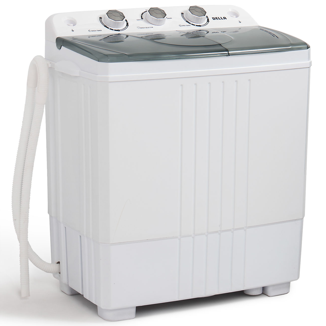 portable mini washing machine compact twin tub 11lb washer spin dryer white 846183161479 ebay. Black Bedroom Furniture Sets. Home Design Ideas
