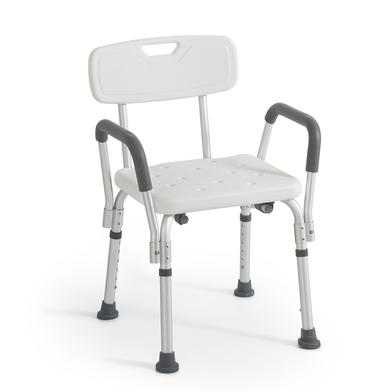 Medical Deluxe Shower Bath Chair Seat with Back & Arms, Adjustable ...