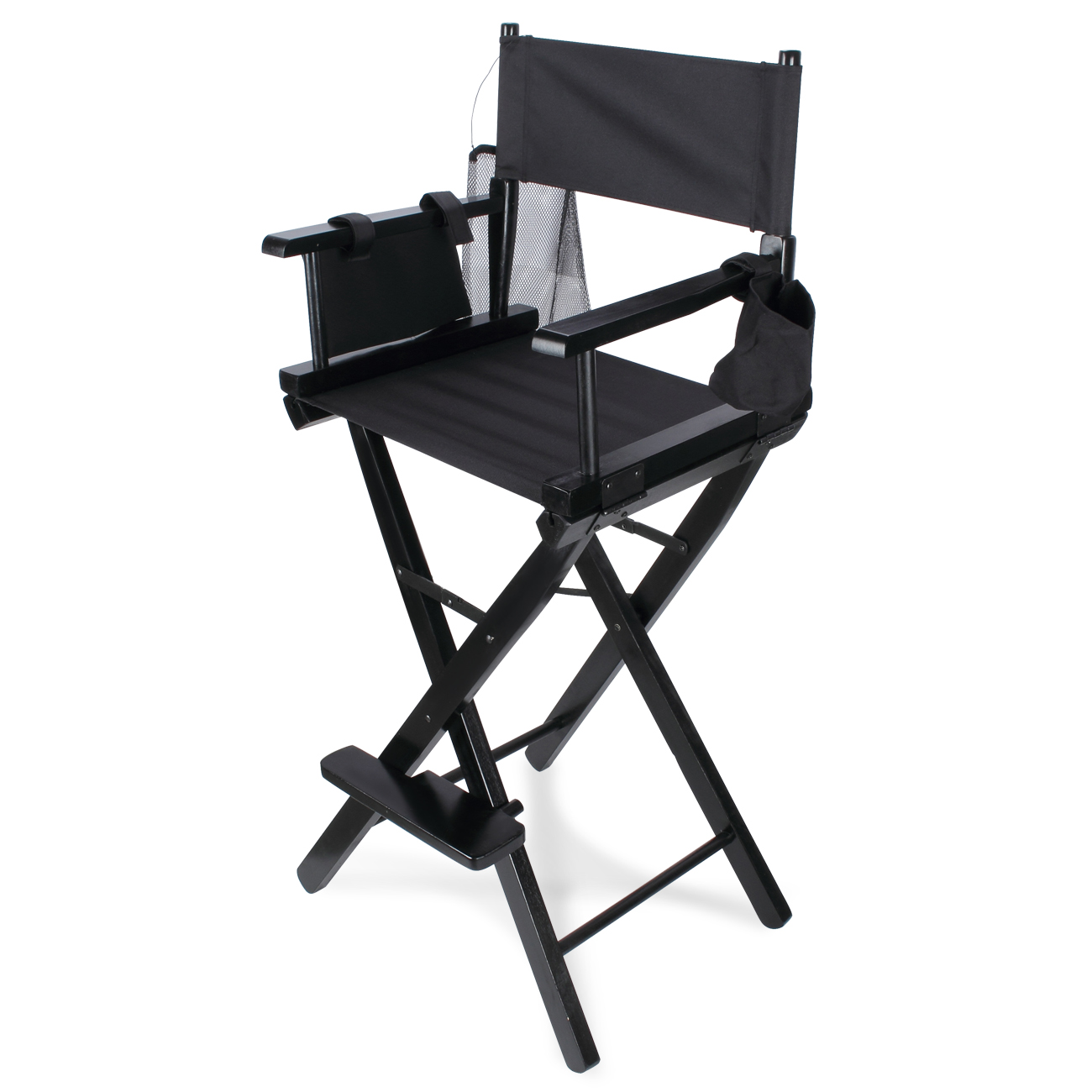 Details about Professional Makeup Artist Directors Chair Wood Light Weight Foldable Black  sc 1 st  eBay & Professional Makeup Artist Directors Chair Wood Light Weight ...