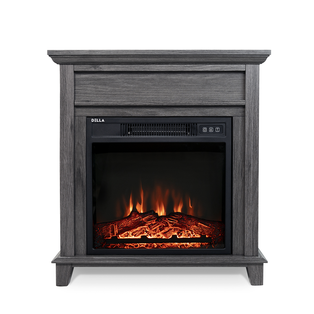 18 In Freestanding Electric Fireplace Mantel Heater In