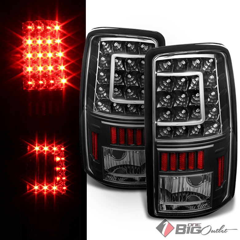 For 00-06 Suburban, Tahoe, Black Color LED Tail Lights w/ C-Shape ...