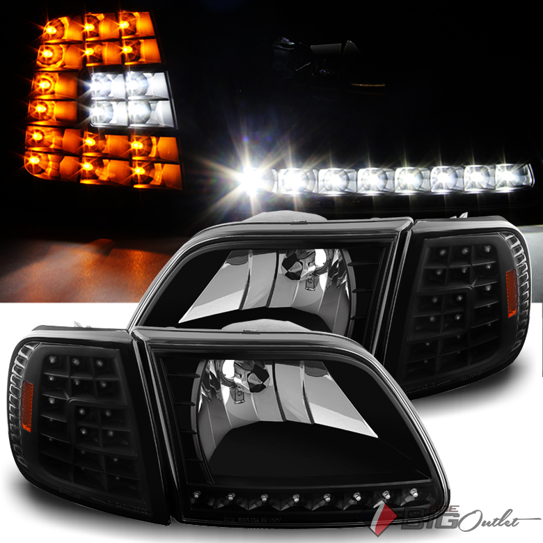 For   Ford F Expedition Led Headlightsled Corner Head Lights Pair