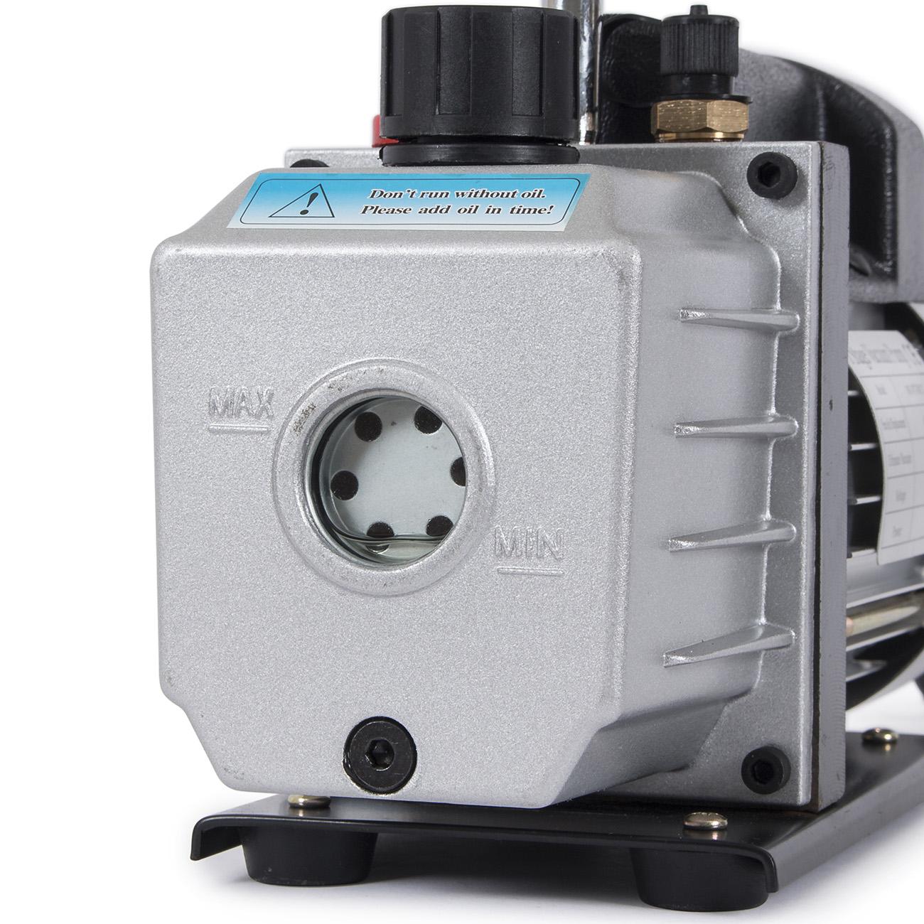 Combo 4CFM 1/3HP Air Vacuum Pump HVAC + AC Refrigeration Kit A/C Manifold Gauge