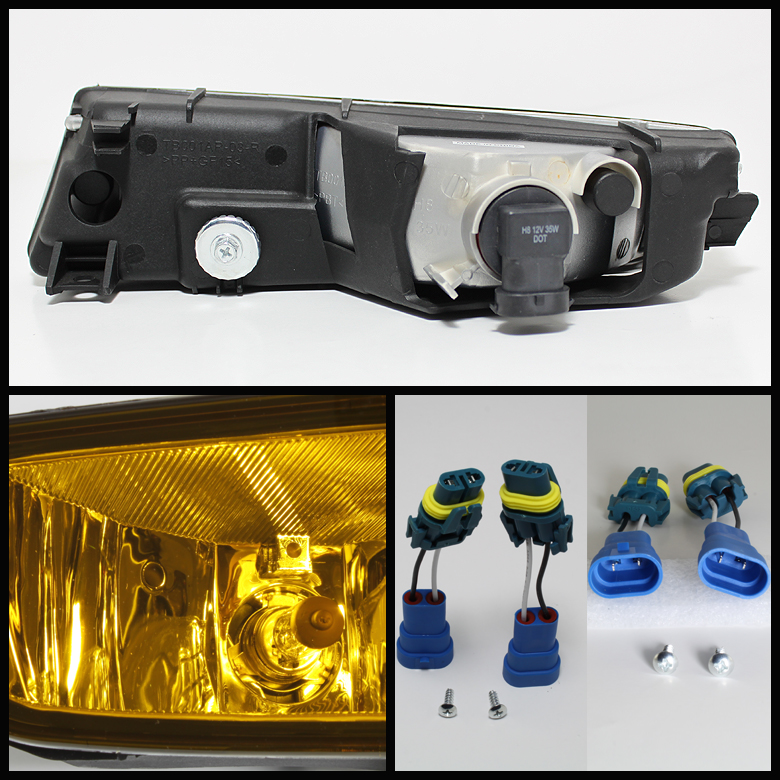 For 02-03 Acura TL Jdm Yellow Driving Fog Lights Replace