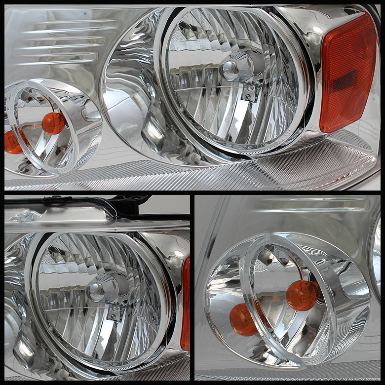 Chrome LED Perform Tail Lights Combo For 04-08 Ford F150 Headlights