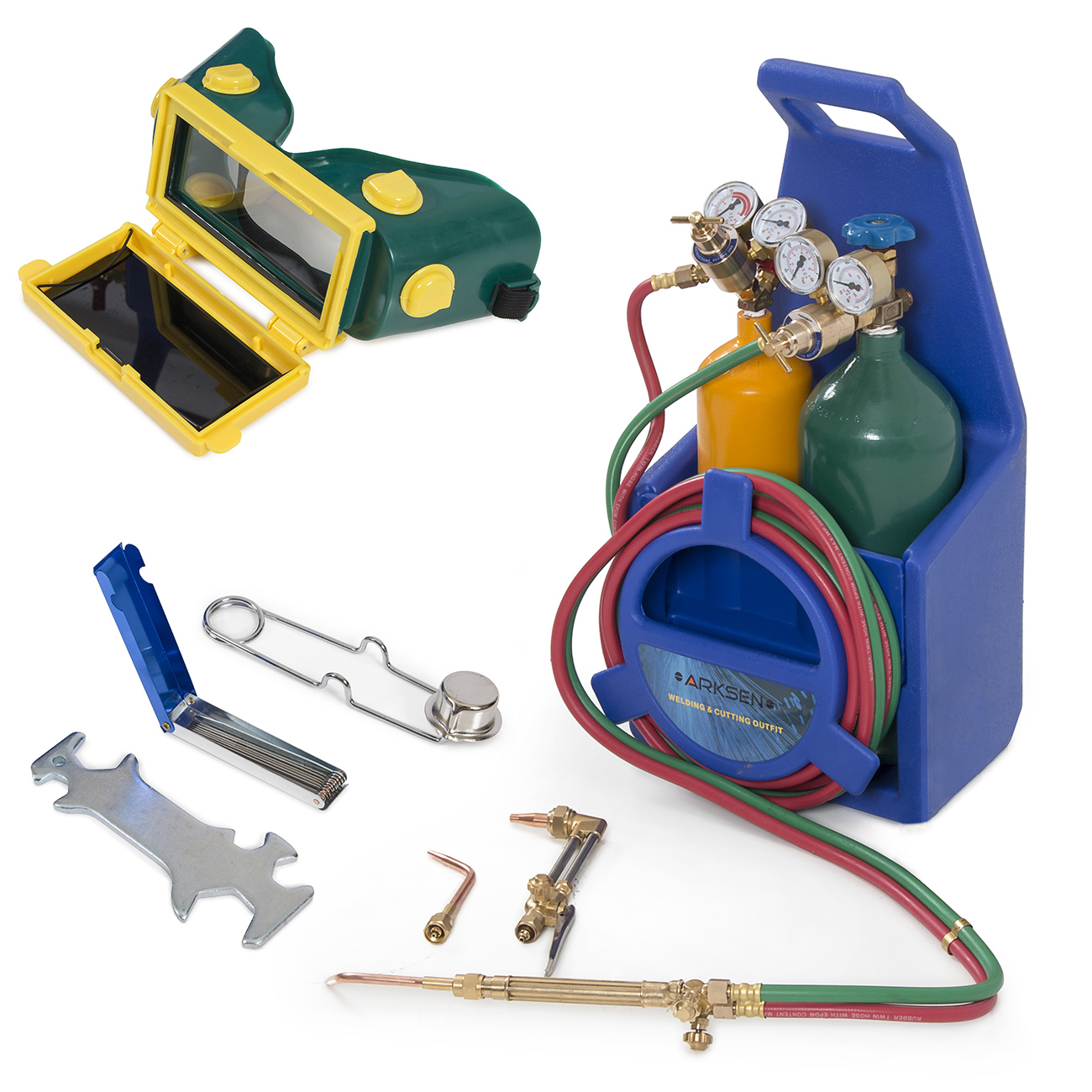 Portable Twin Tote Oxygen Acetylene Tank Style Welding Cutting Torch