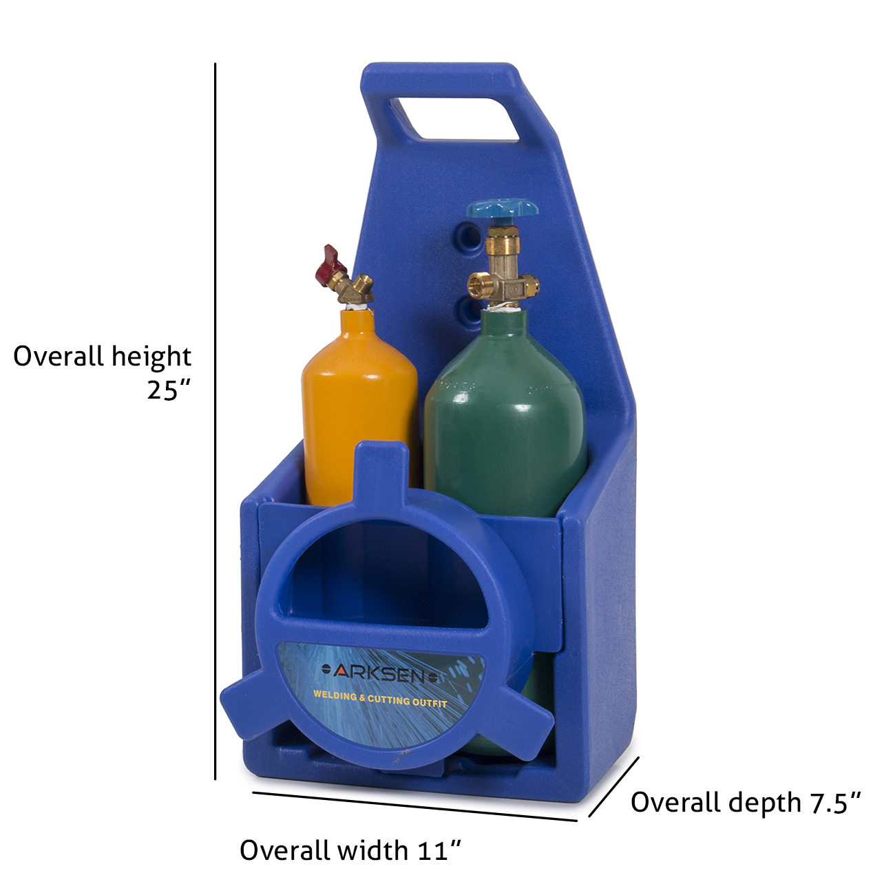 Portable Twin Tote Oxygen Acetylene Tank Style Welding