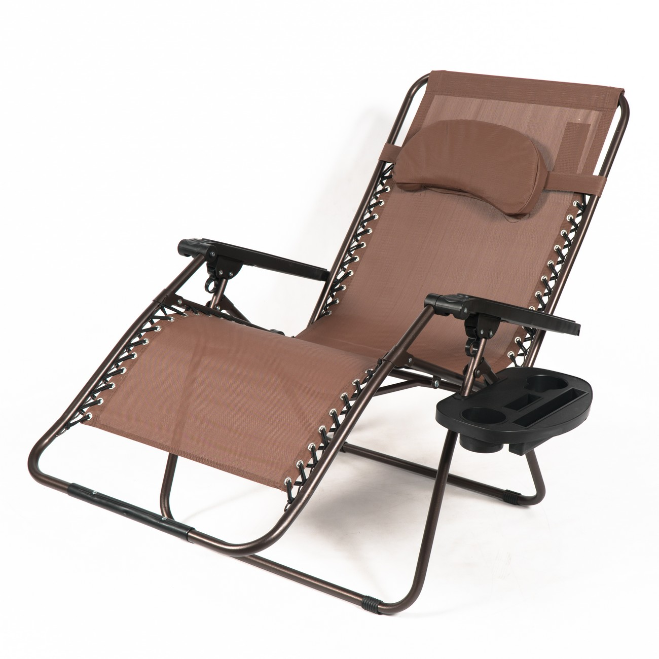 Oversized xl padded zero gravity chairs folding recliner lounge w tray 3 color ebay - Oversized zero gravity lounge chair ...