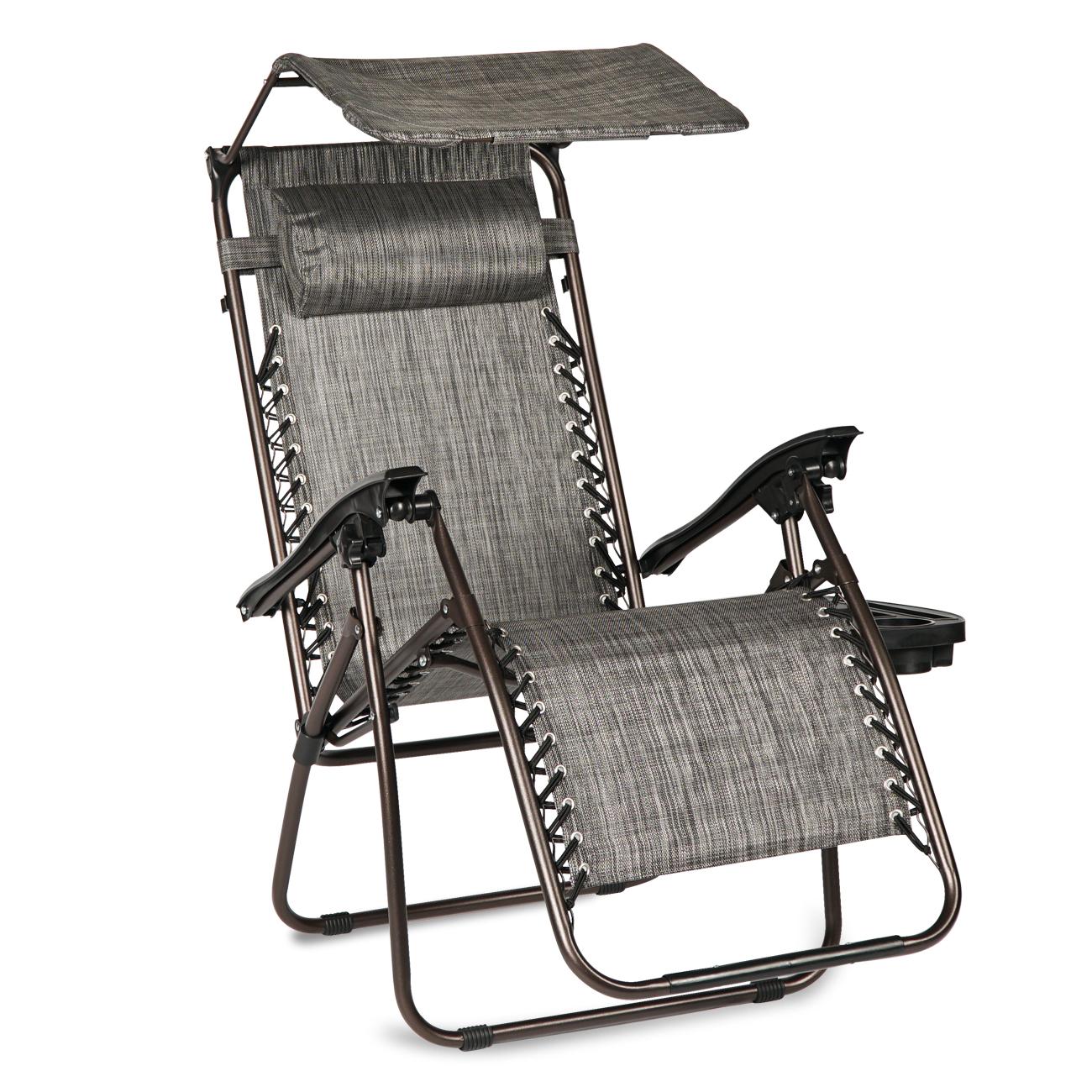 New 2 Pcs Zero Gravity Folding Lounge Beach Chairs W