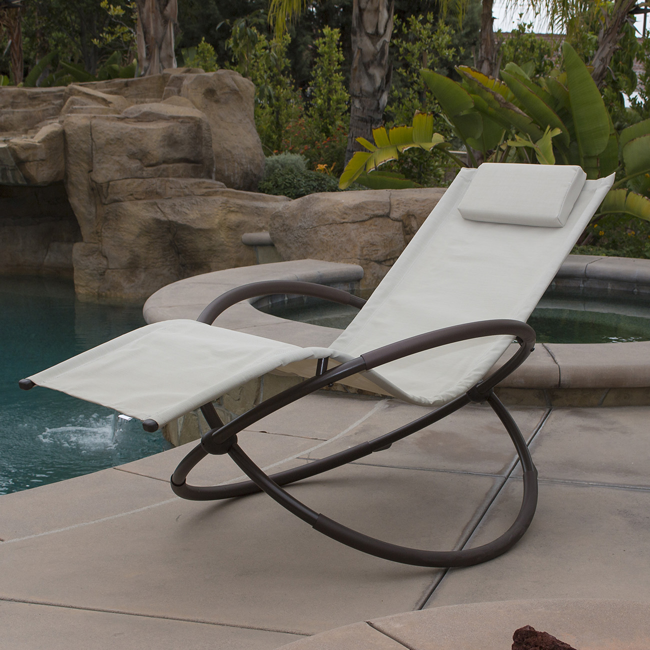 Commercial Bench Seating Pool Side Outdoor Kitchen: Orbital Folding Zero Gravity Lounge Chairs Outdoor Beach