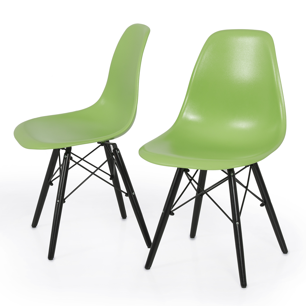 2x DSW Molded ABS Plastic Side Chair Eiffel