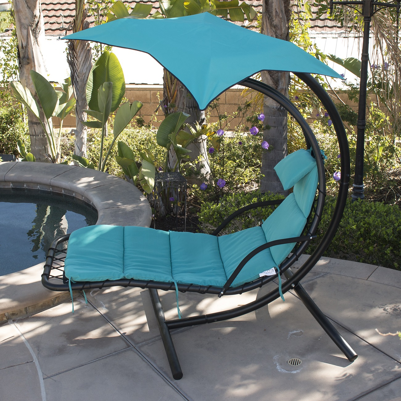 Wonderful Hanging Chaise Lounge Chair Hammock Swing Canopy Glider