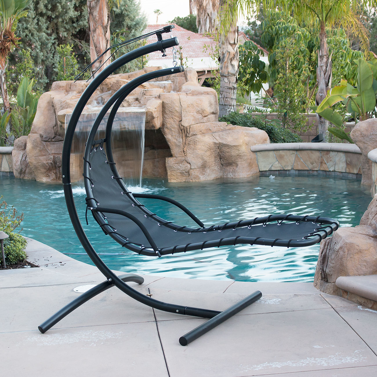 Hanging-Chaise-Lounge-Chair-Hammock-Swing-Canopy-Glider- & Hanging Chaise Lounge Chair Hammock Swing Canopy Glider Outdoor ...
