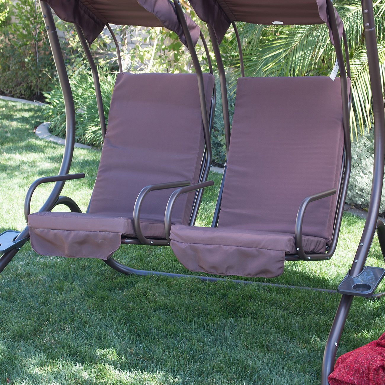 New Outdoor Swing Set 2 Person Patio Frame Padded Seat