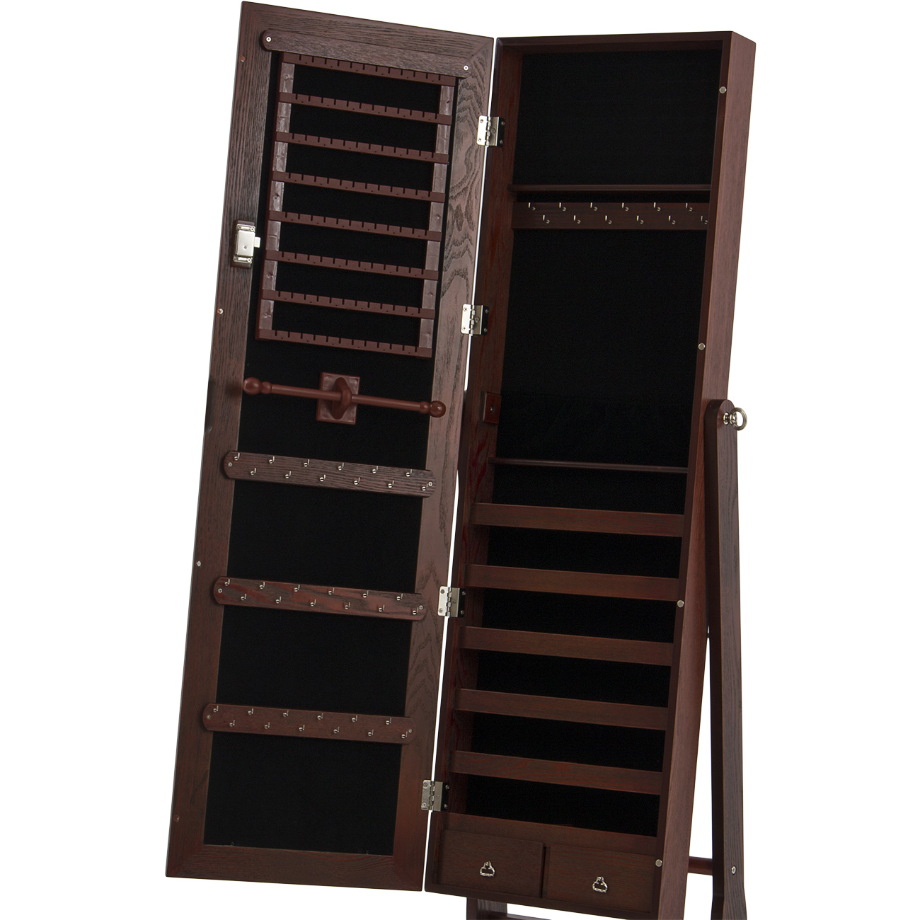 57 Quot Elegant Jewelry Cabinet Amoire W Key Mirrored Tilt