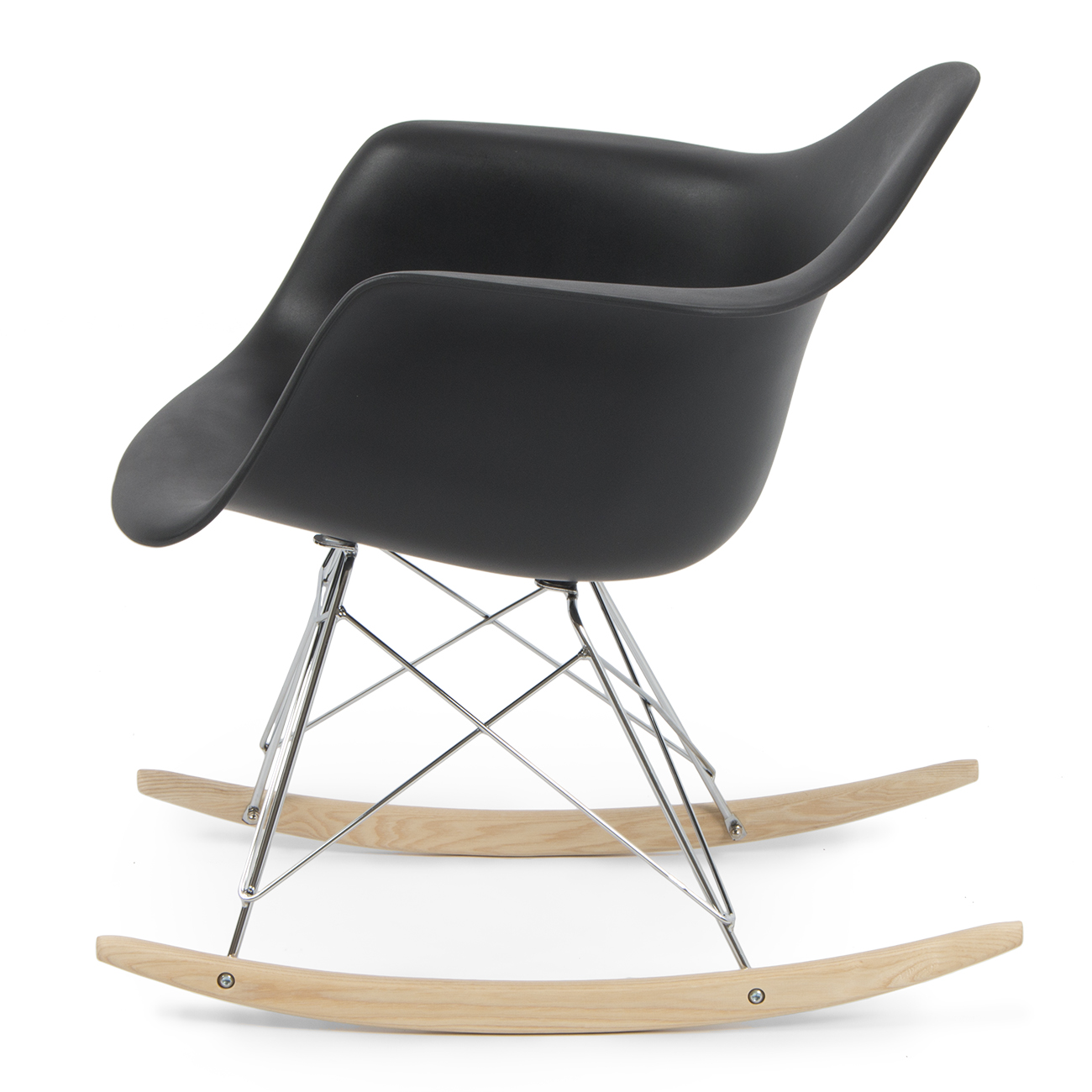 new eames rocker rocking indoor wood chair rar dsw style room retro modern room ebay. Black Bedroom Furniture Sets. Home Design Ideas