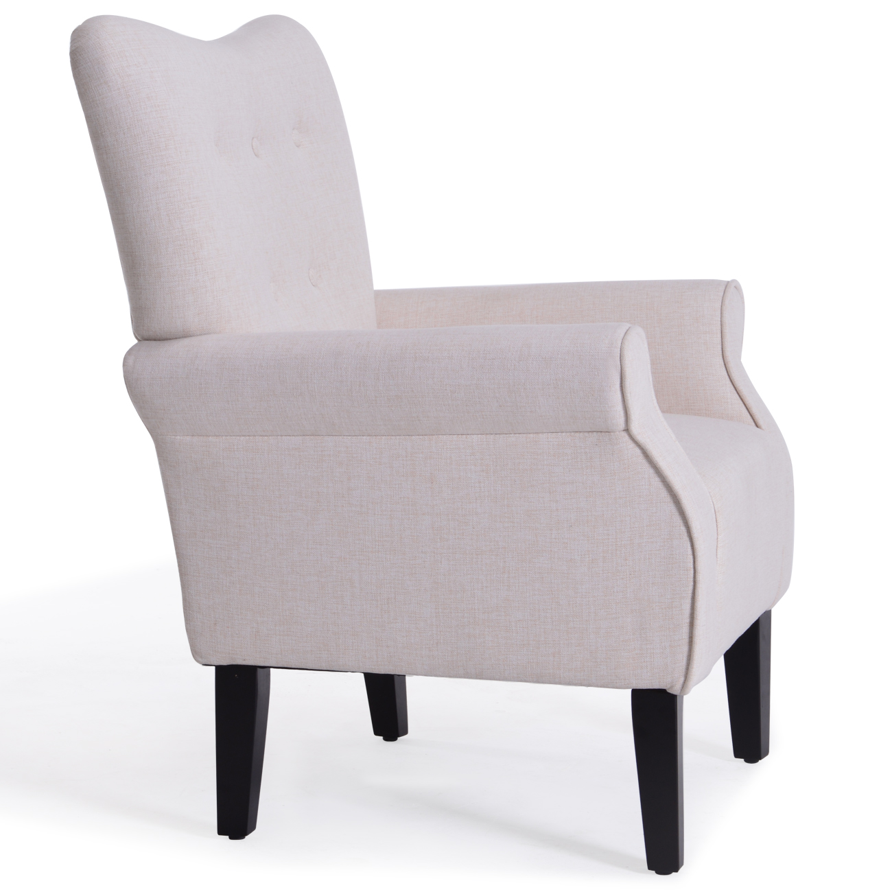 NEW Modern Tufted Accent Chair Living Room Armrest High Backrest ...