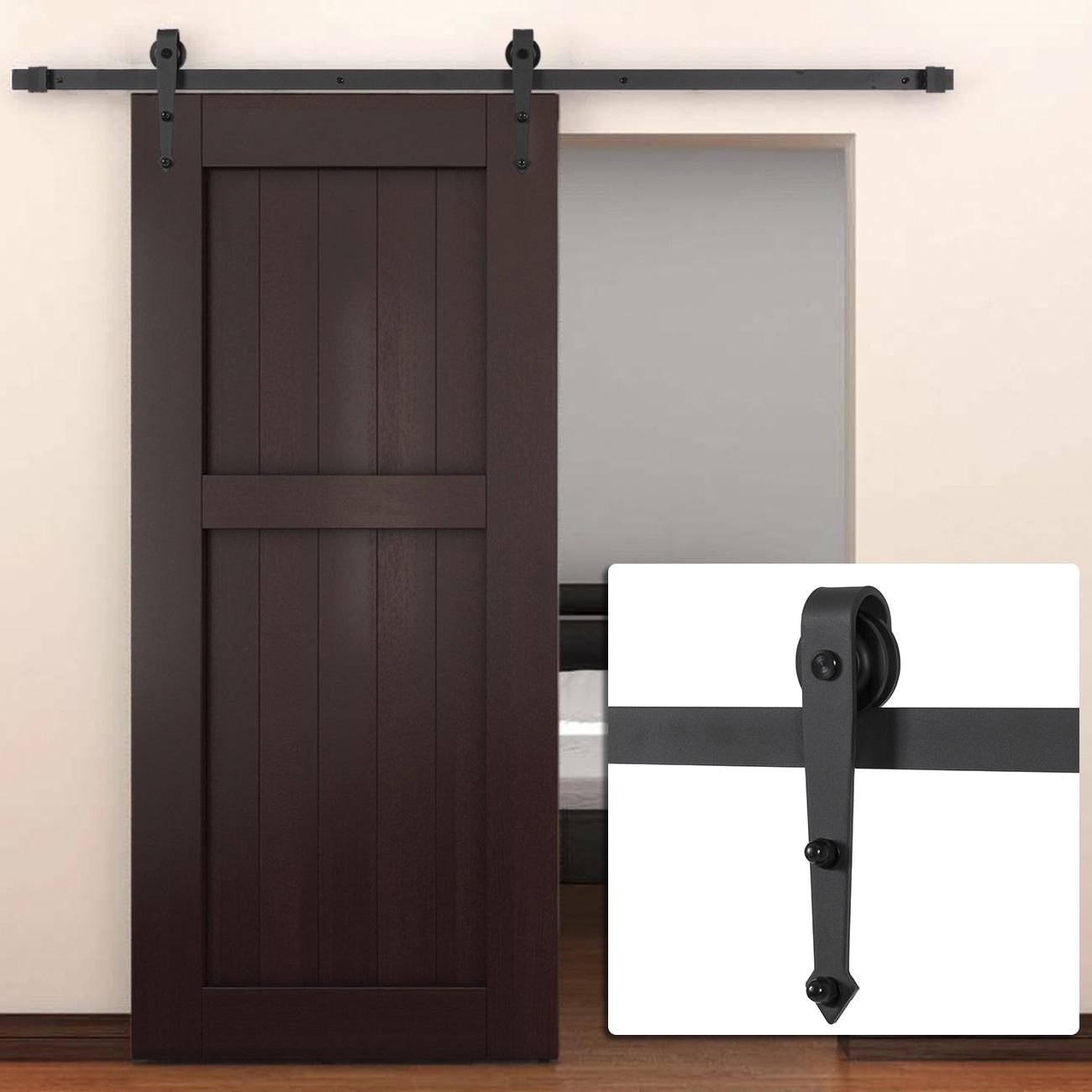 Sliding Doors Hardware: 6 FT Modern American Steel Sliding Barn Door Hardware