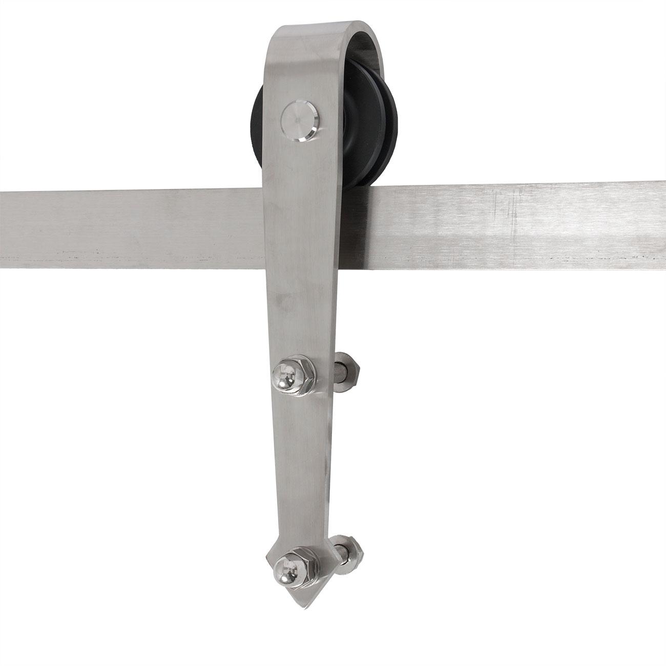 Sliding Track Door Hardware: 12 Ft Double Sliding Barn Door Hardware Kit Modern Style