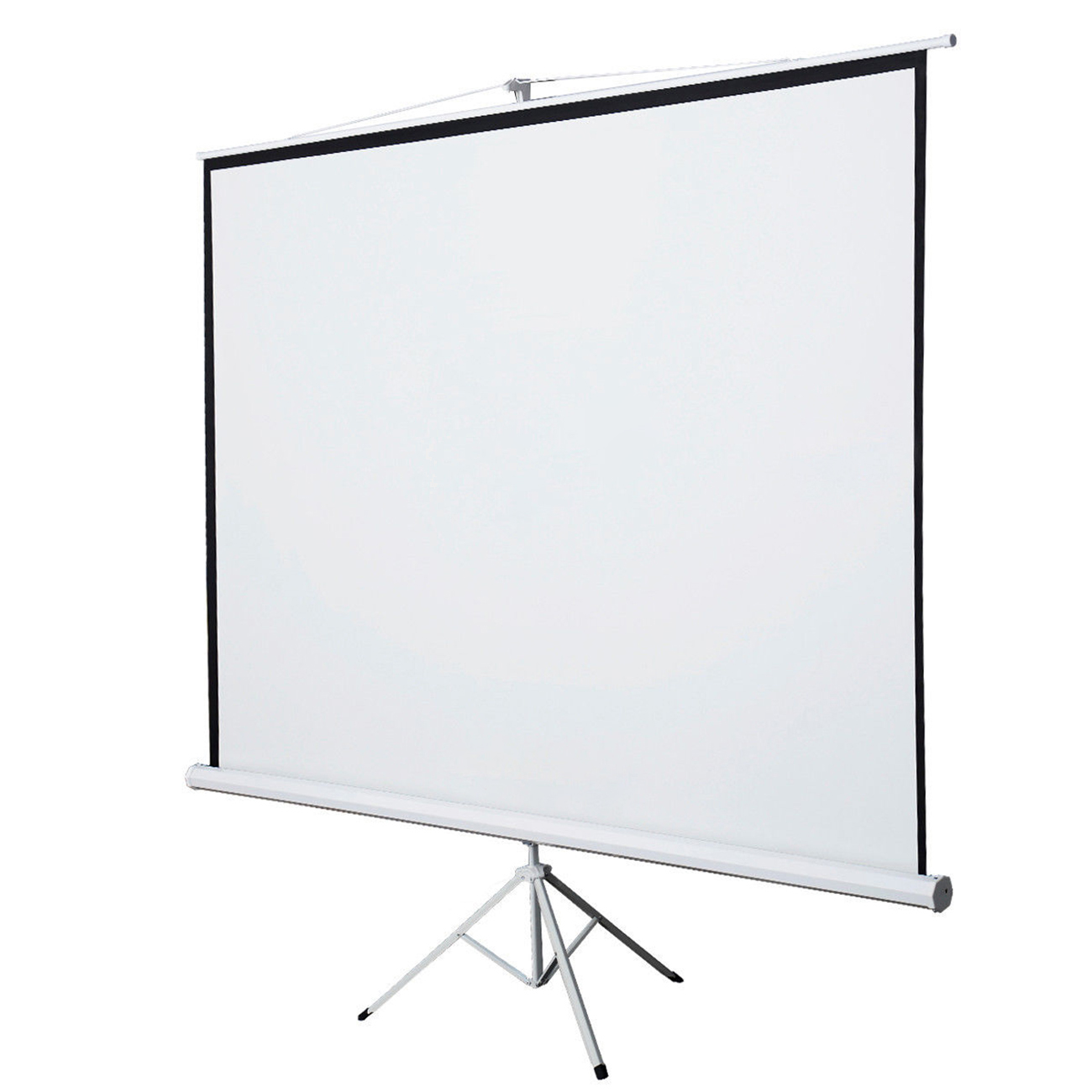 White 120 Quot 4 3 Portable Tripod Projector Projection Screen