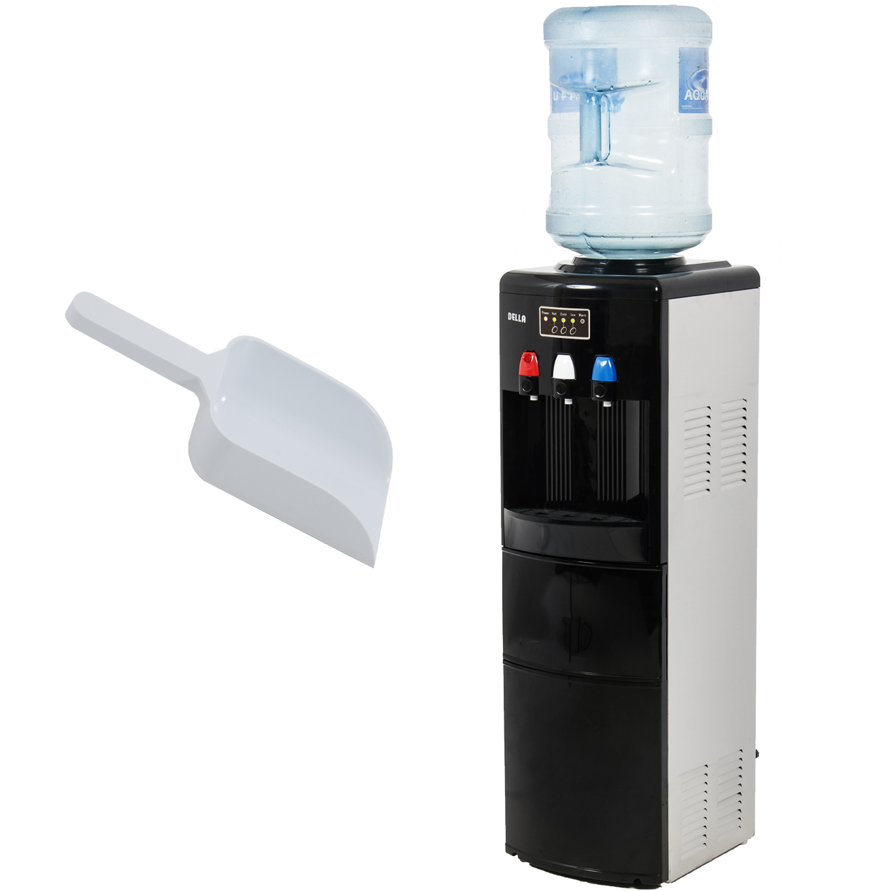 Top Loading Silver Water Hot Cold Water Dispenser With Ice Maker