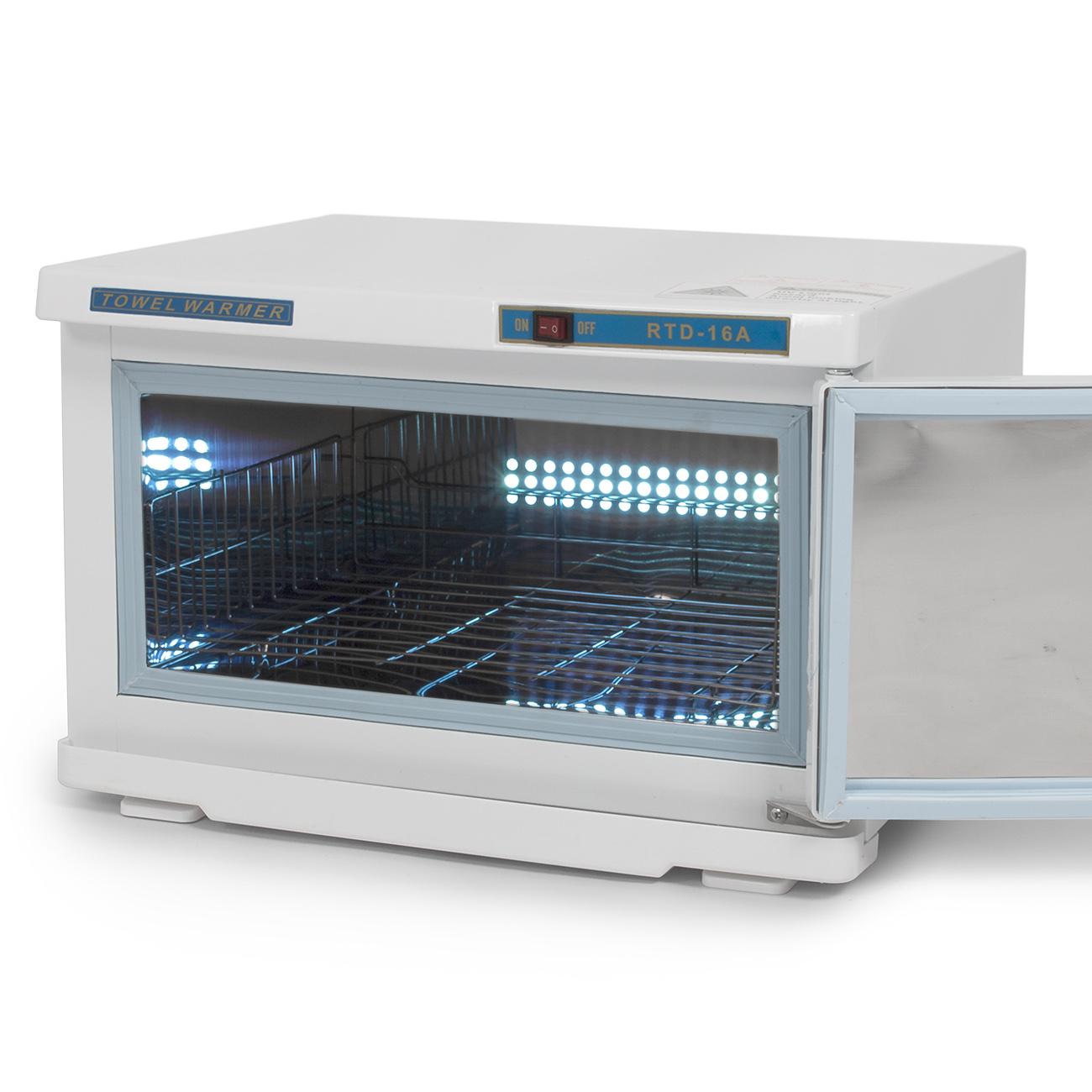 16L Salon UV Sterilizer Cabinet Towel Warmer Heater Facial Spa ...