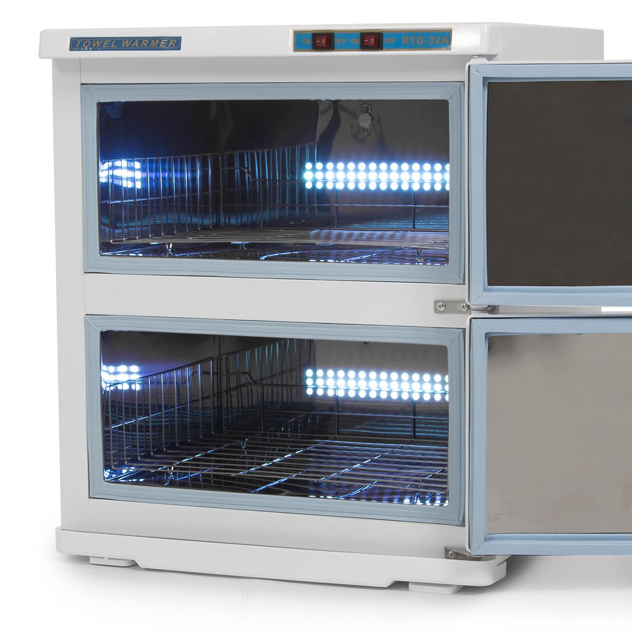 32L 2in1 Hot UV Sterilizer Towel Warmer Cabinet Spa Beauty Salon ...