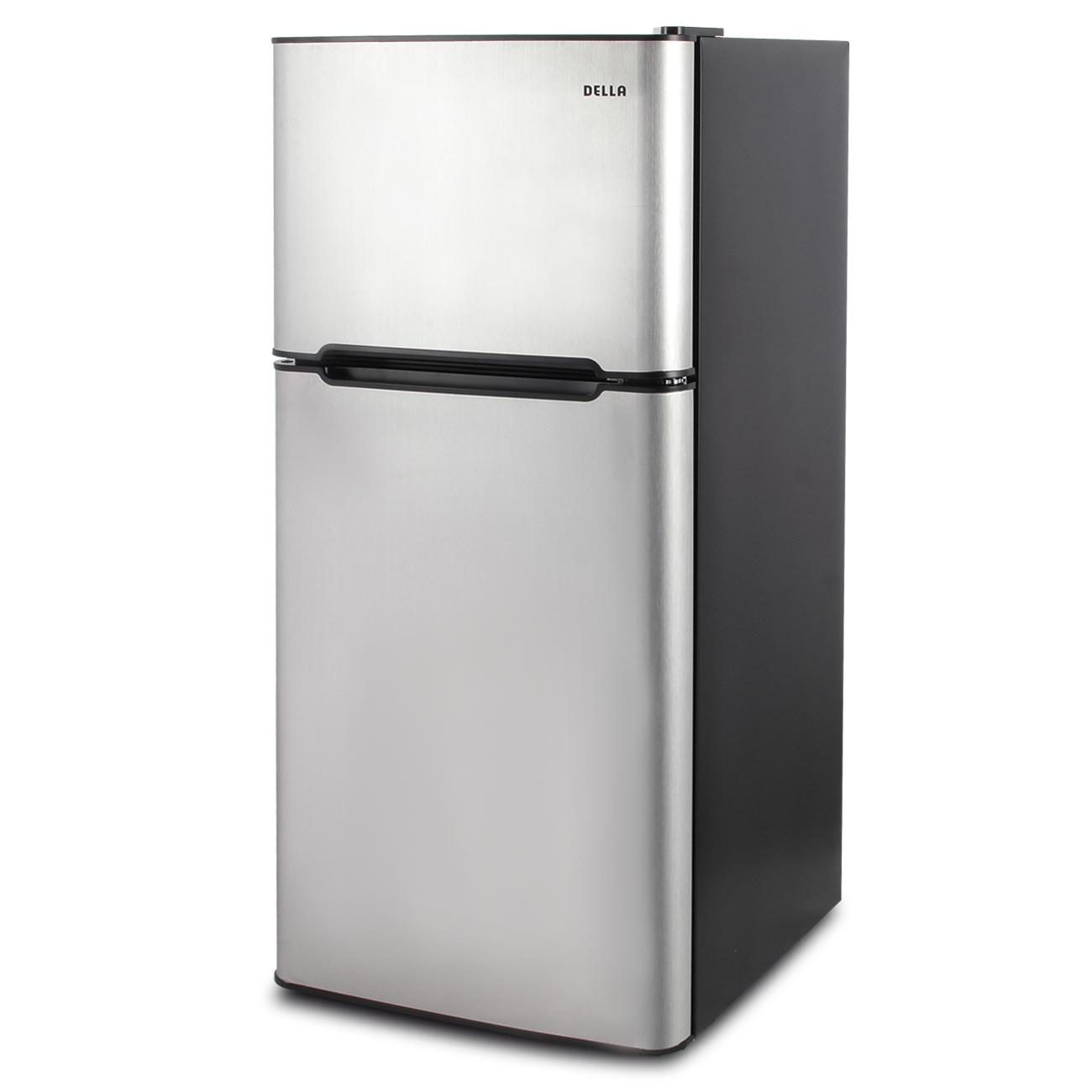 Genial 4.5 Cu. Ft. Mini Fridge Compact Refrigerator Freezer Dorm Studio Stainless  Steel