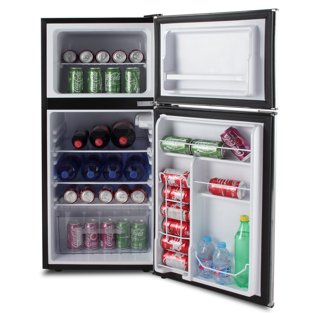 4 5 cu ft mini fridge compact refrigerator freezer dorm. Black Bedroom Furniture Sets. Home Design Ideas