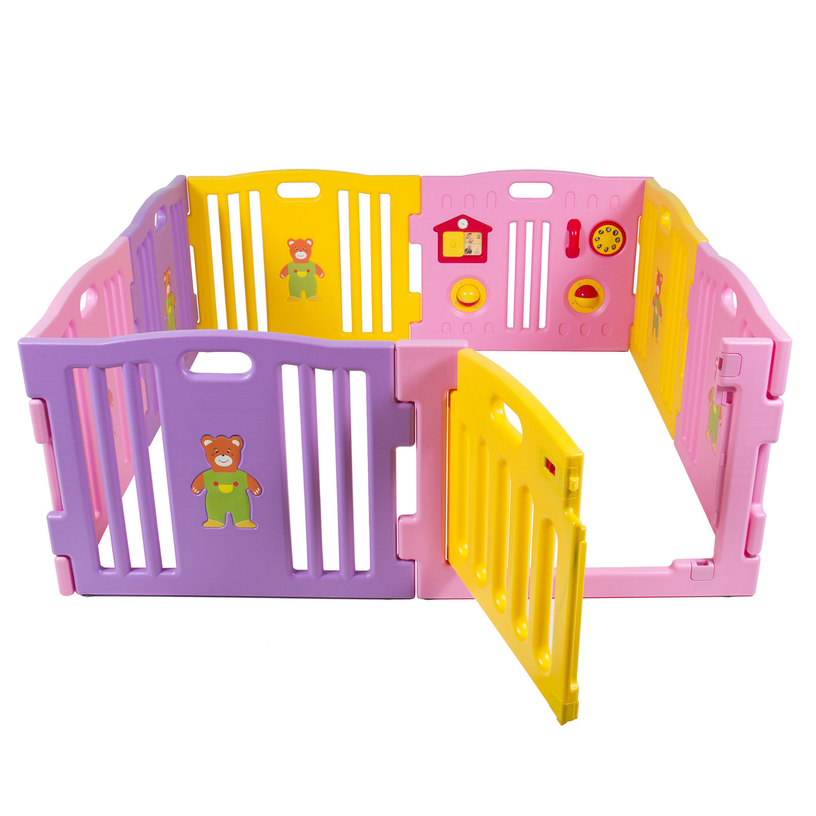 Baby Playpen Kids 8 Panel Safety Play Center Yard Home Indoor