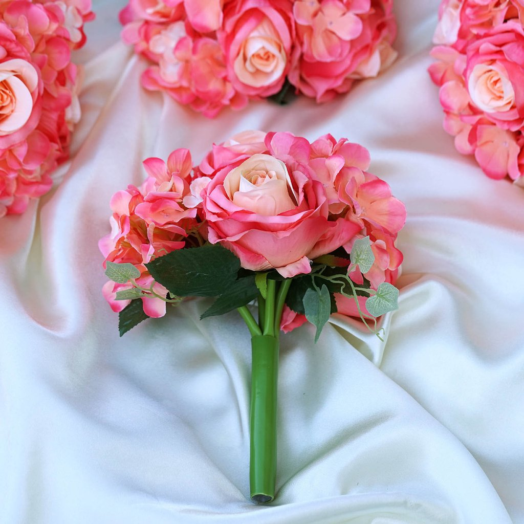 Silk roses and hydrangea flowers bouquets wedding centerpieces silk roses and hydrangea flowers bouquets wedding centerpieces junglespirit Image collections