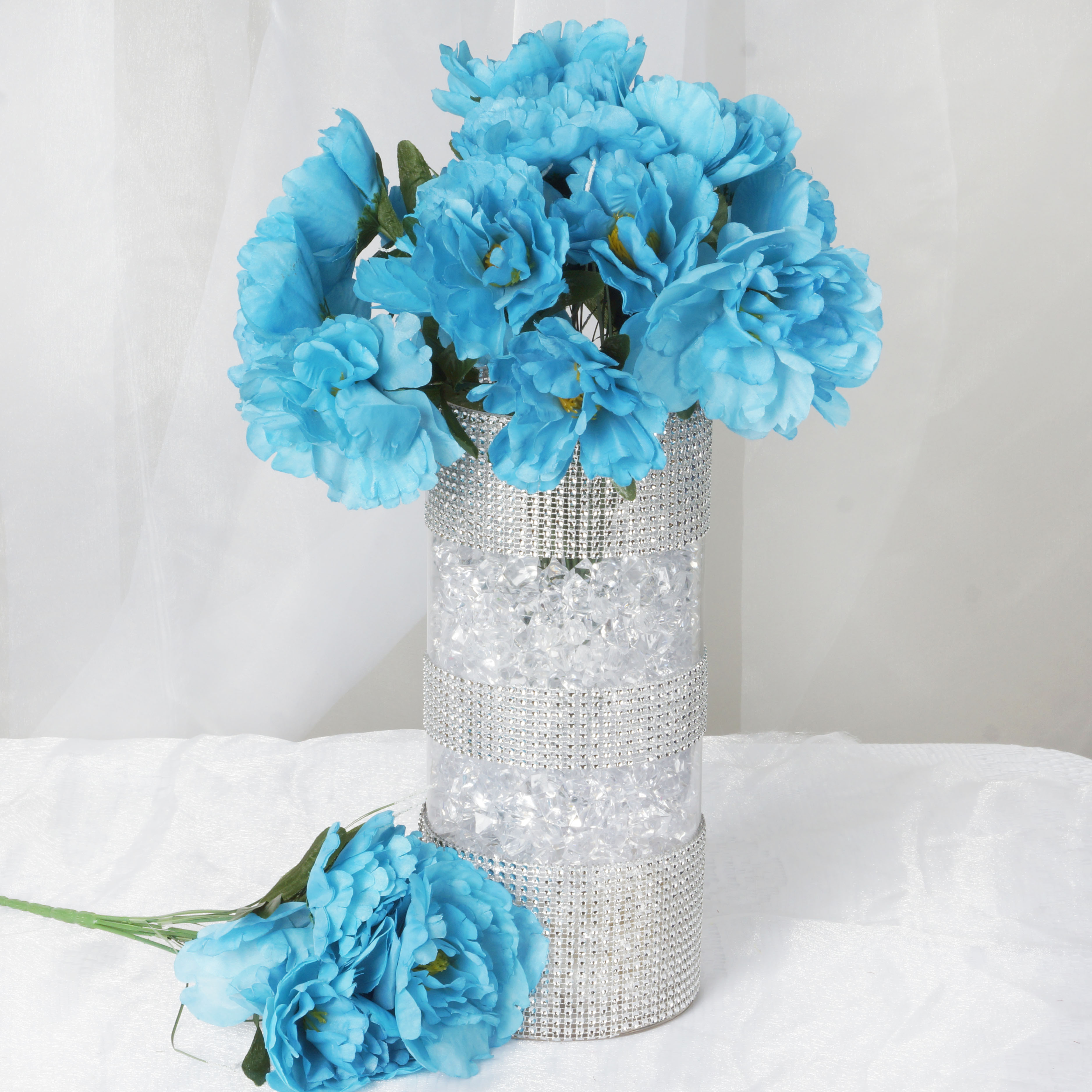 60 pcs Silk PEONY Flowers for Wedding Bouquets Centerpieces Supplies ...