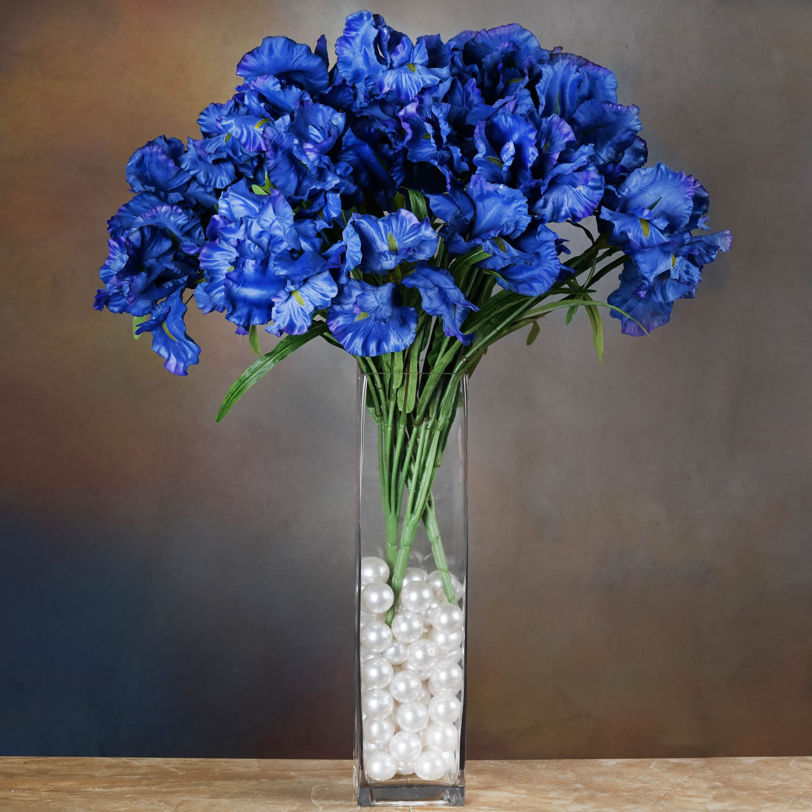 36 Large 7 Wide Silk Iris Flowers 4 Bushes For Wedding Bouquets