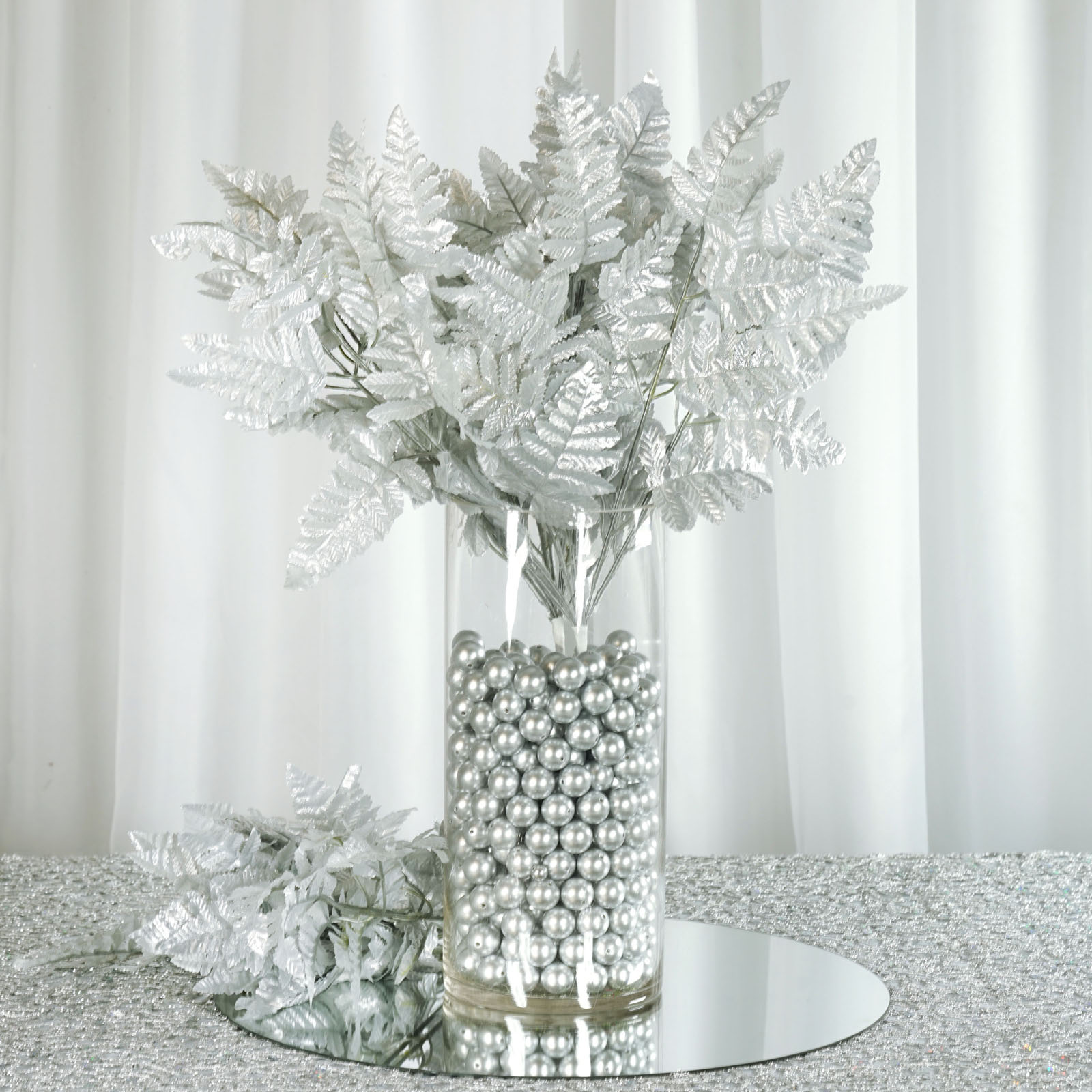 432 Leaves Leather Fern Greenery Branches - 36 bushes for Wedding ...
