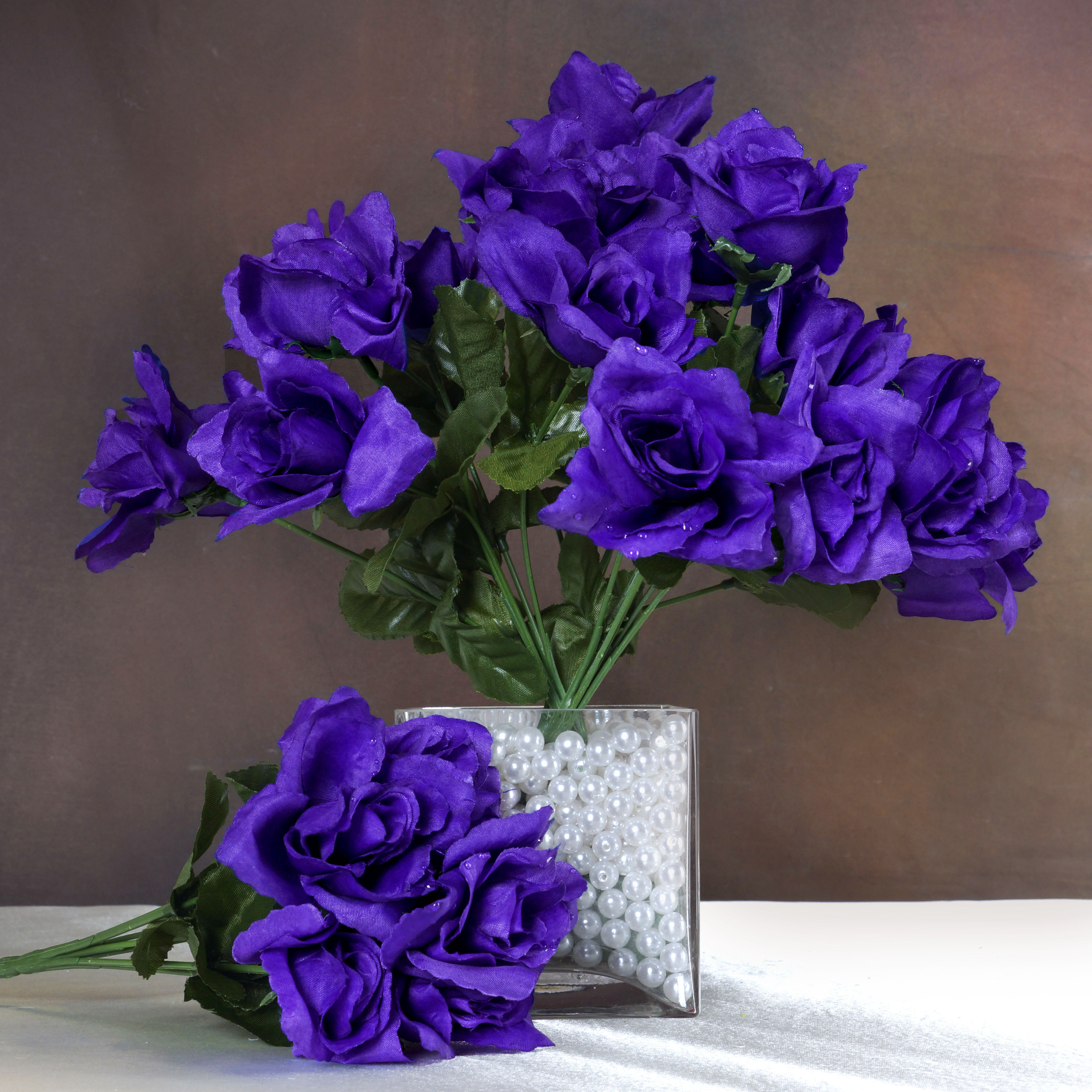Wedding Flowers Cheap Online: 168 Silk OPEN ROSES WEDDING Bouquets FLOWERS Centerpieces