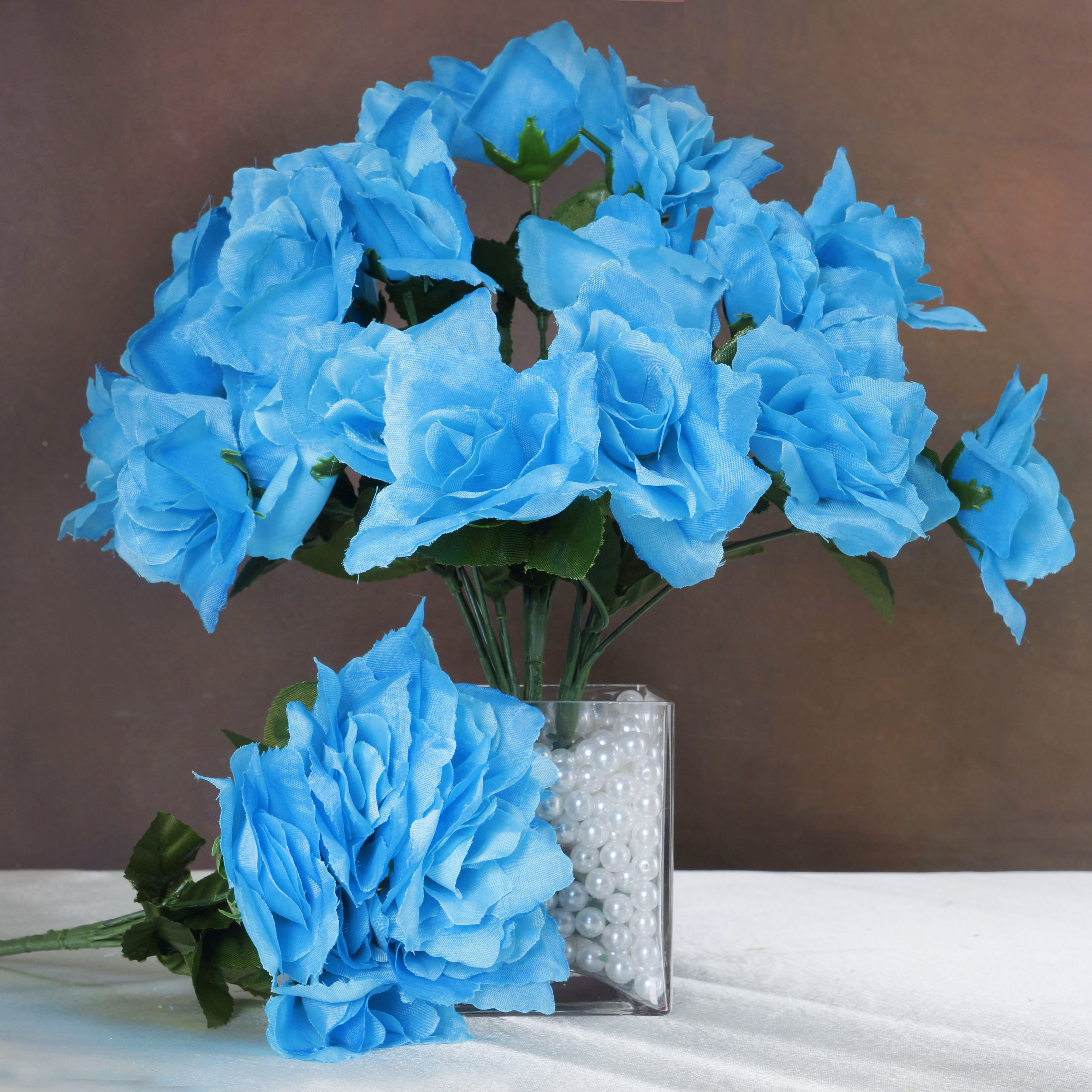 252 OPEN ROSES Wedding Wholesale Discount SILK Flowers Bouquets for ...