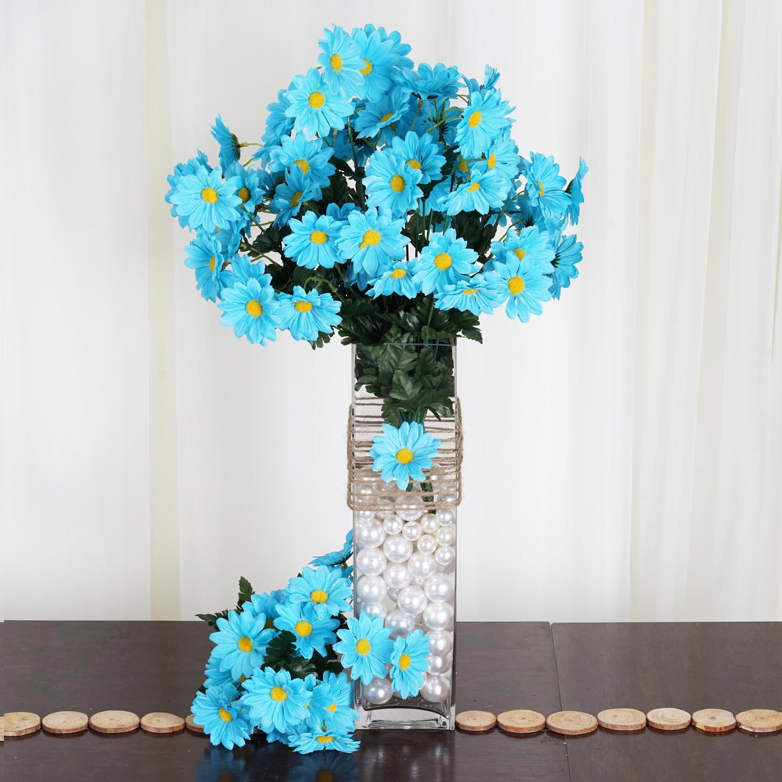 88 Silk DAISIES WEDDING Party Bouquets FLOWERS Artificial