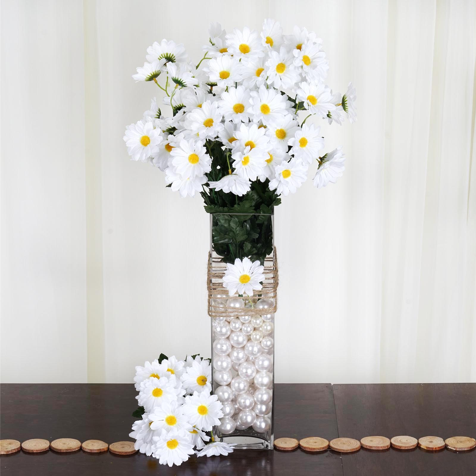 88 Silk Daisies Wedding Party Bouquets Flowers Artificial Garden