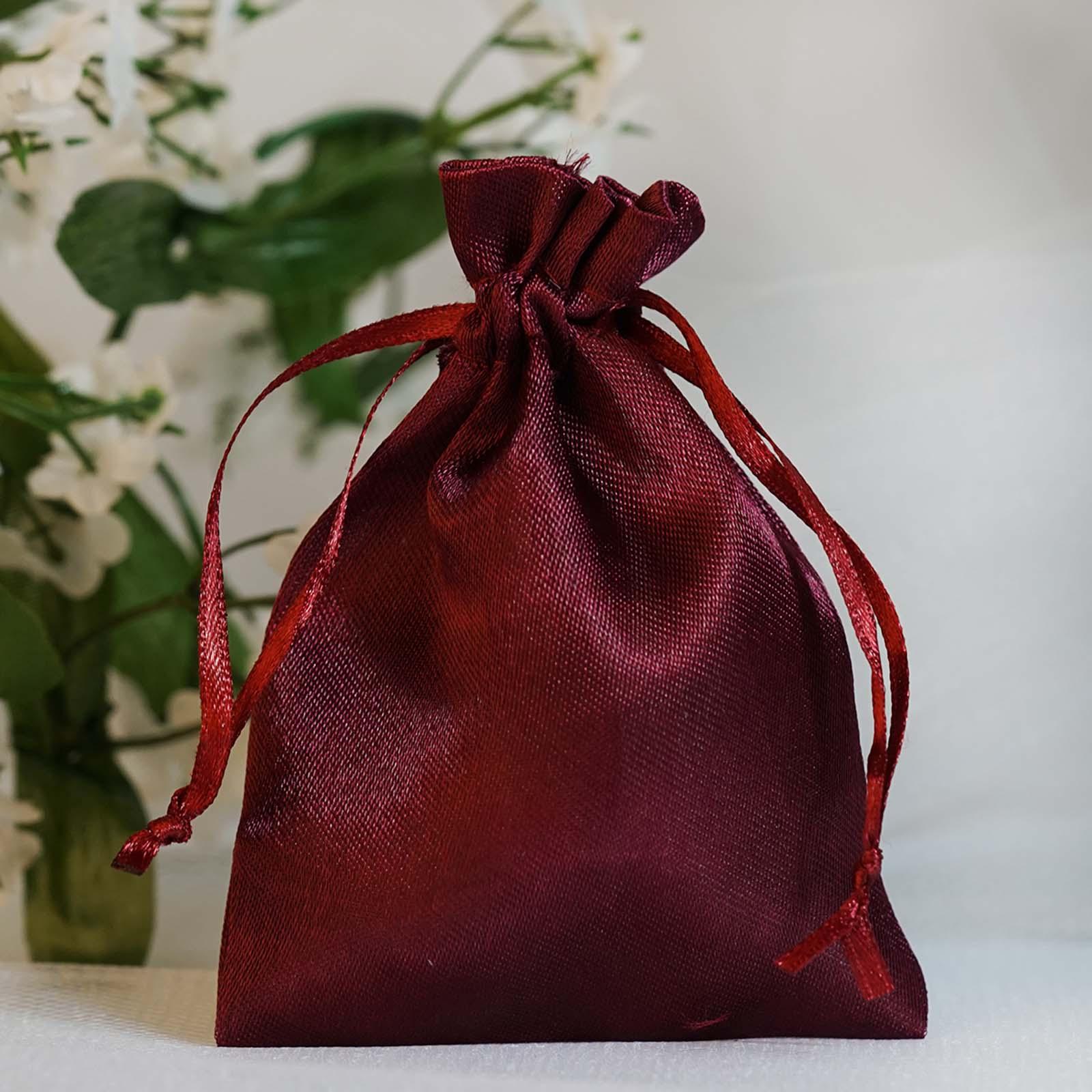 Wedding Gift Pouches: 240 Pcs 3x3.5 Inch SATIN Drawstring FAVOR BAGS