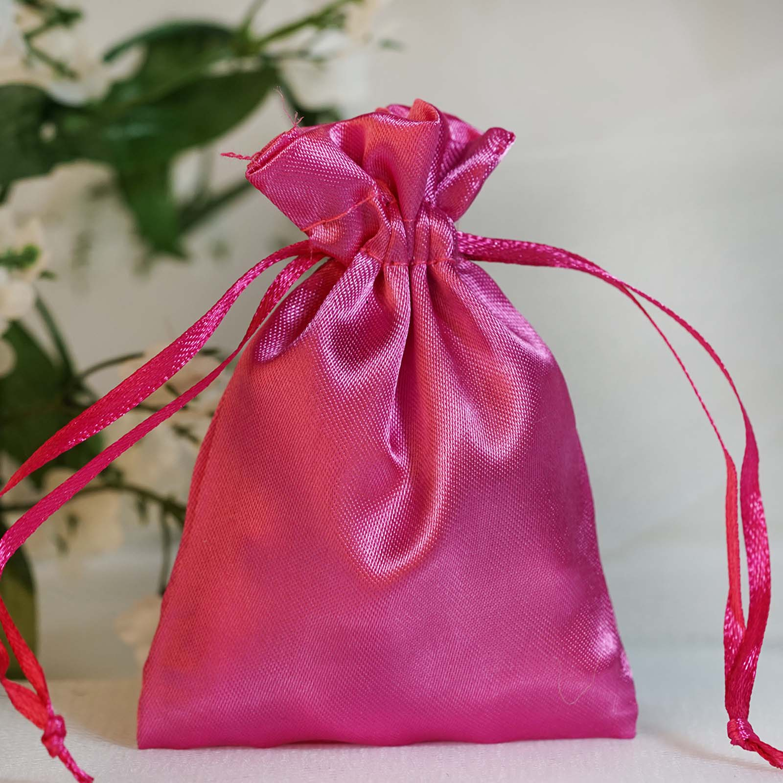 Wedding Gift Pouches: 60 Pcs 3x3.5 Inch SATIN Drawstring FAVOR BAGS