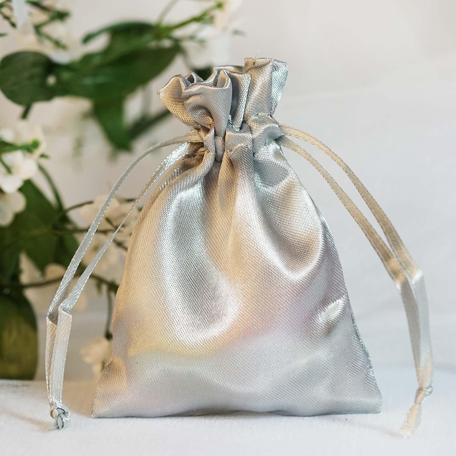 60 Pcs 3x35 Inch Satin Drawstring Favor Bags Wedding Gift Pouches
