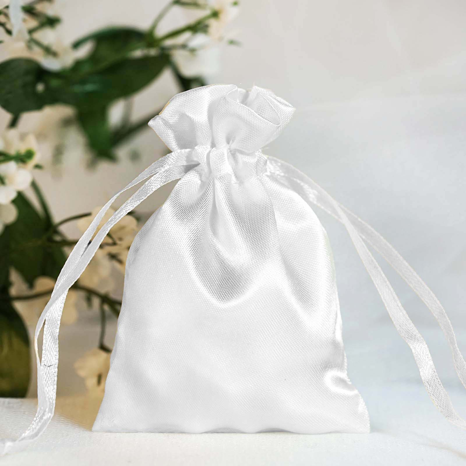 60 pcs 3x3.5 inch SATIN Drawstring FAVOR BAGS - Wedding Gift Pouches ...