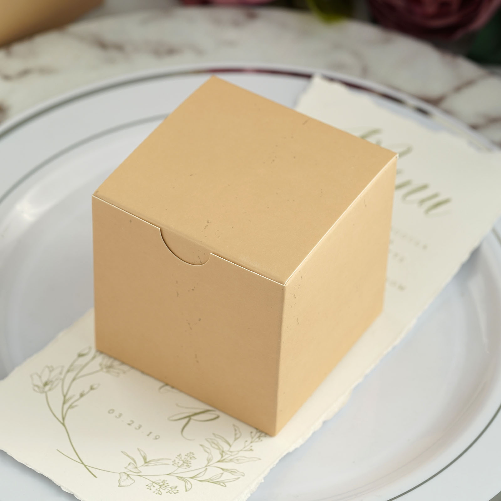 """300 pcs FAVOR BOXES 3/""""x3/"""" Wedding Party Home Decorations GIFT Supply WHOLESALE"""
