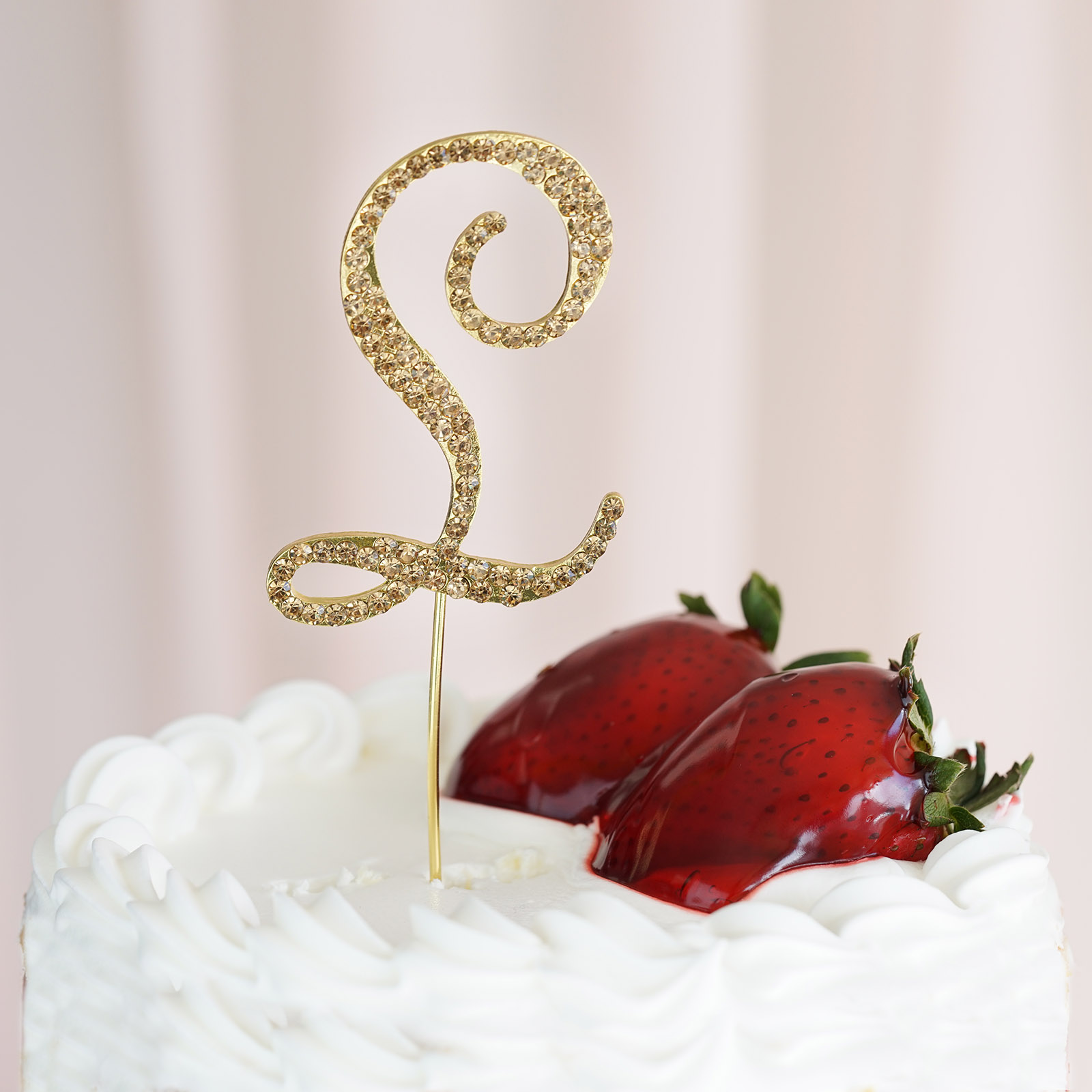 """2.5"""" Tall Rhinestone CAKE TOPPER Wedding Party Decorations"""